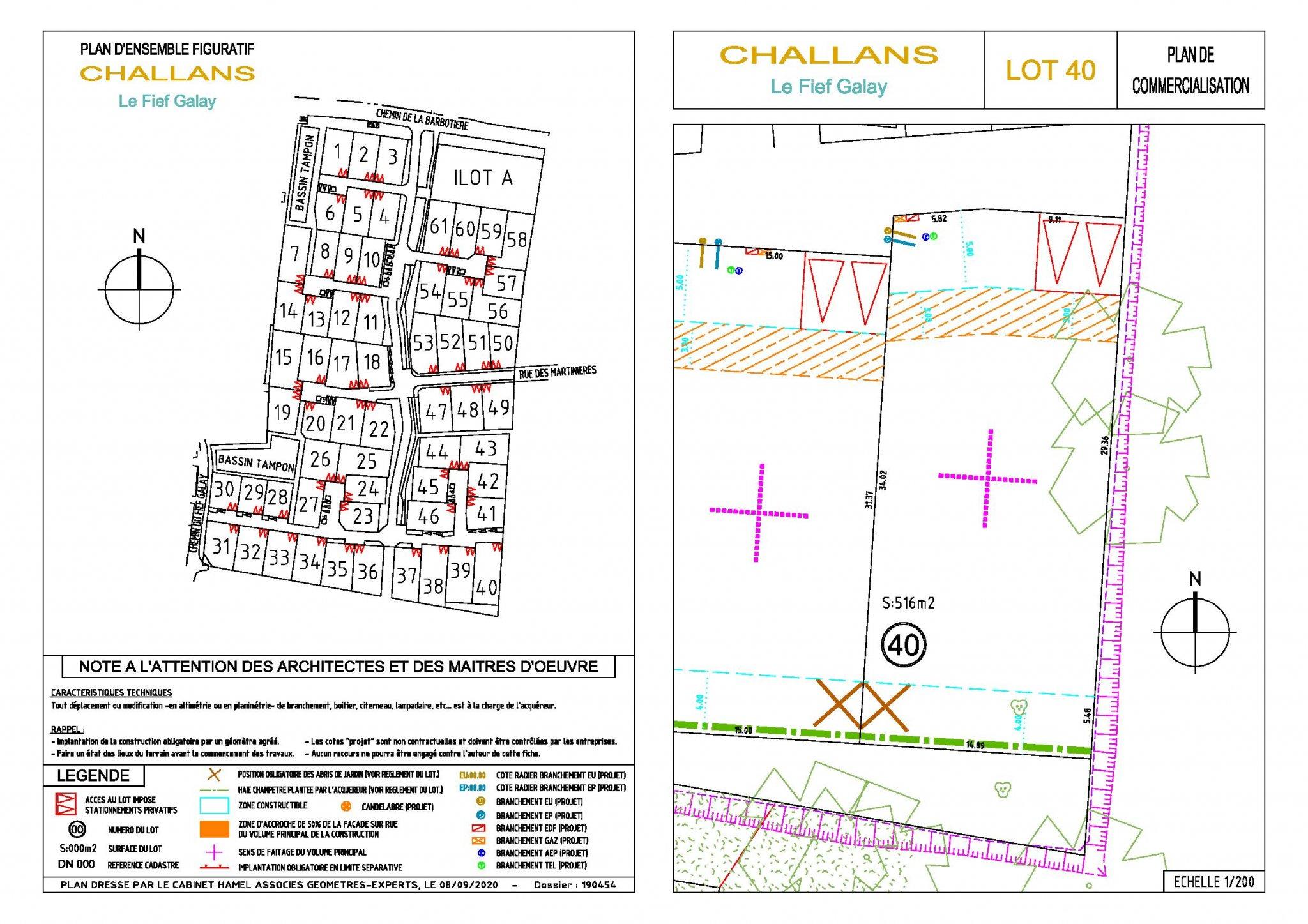 CHALLANS – Terrain 515 m2 Nouveau lotissement | ref-881-40