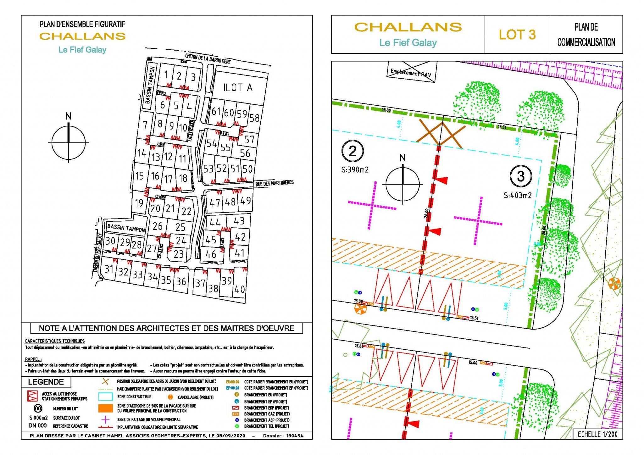 CHALLANS – Terrain 495 m2 Nouveau lotissement | ref-881-3